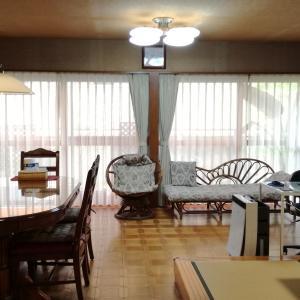 サンゲツの生地でソファー張替えしリビングの改装完了!