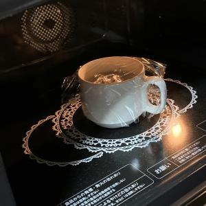 ニトリのマグカップで 簡単半熟○○○