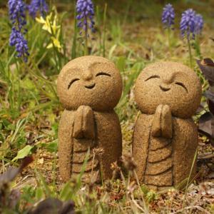 石んこ地蔵13cm「微笑み」「やさしさ」。八重桜の塩漬け作りましょ。