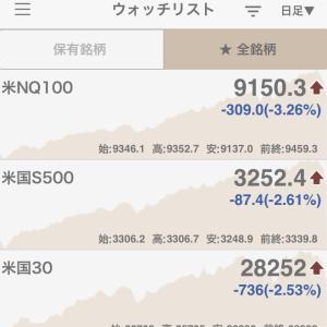 新型肺炎の影響で株価が下がっていたのでナスダック100インデックスを買いました。