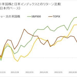 保有米国株 vs 日米インデックス (2021年8月3週目)