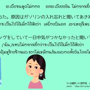 タイ日翻訳 あきれ返るตะลึงจนพูดไม่ออก ตกตะลึงงงงัน ไม่อยากเชื่อว่าจะเป็นไปได้