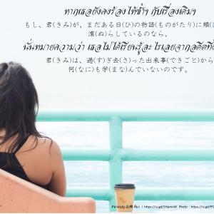 タイ日翻訳 ไม่ได้เรียนรู้อะไร 何も学んでいないのです。