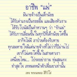 """タイ語翻訳 อาชีพ""""แม่""""お母さんの仕事"""
