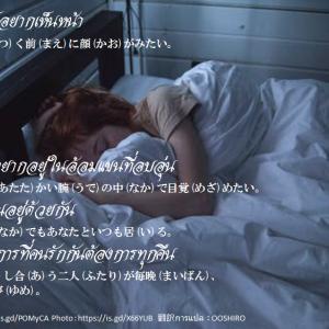 タイ日翻訳 顔が見たいอยากเห็นหน้า
