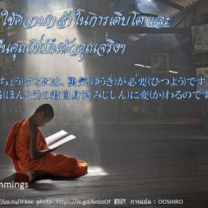 タイ日翻訳 成長 การเติบโต