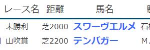 《 2021.4.3-4の結果 》スワーヴエルメが未勝利勝ちなど