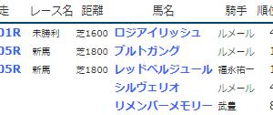 result_2019.6.22-23◆ブルトガング・レッドベルジュール(新馬勝ち)など