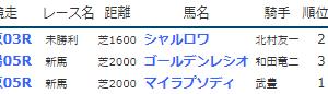 result_2019.7.6-7◆マイラプソディ(新馬勝ち)など
