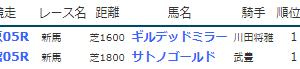 result_2019.7.13-14◆ギルデッドミラー・サトノゴールド(新馬勝ち)/【訃報】ブルトガング予後不良