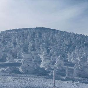 今年は樹氷がほとんどなかった山形蔵王 2日目
