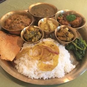 干し芋茎入りマス、ムスロ、ガハットのダル @ ネパールのごちそう jujudhau ズーズーダゥ (池田市)