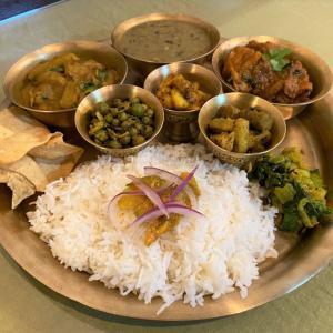 隼人瓜のタルカリとスパイス炒め @ ネパールのごちそう jujudhau ズーズーダゥ (池田市)