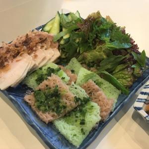茹で豚肉とバインホイのライスペーパー包み @ コアアン KHO ANH (神戸市東灘区)