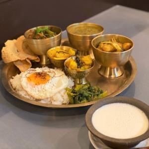 干し夕顔とじゃが芋のタルカリ @ ネパールのごちそう jujudhau ズーズーダゥ (池田市)