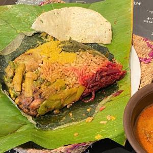 蓮の葉包みライス&カリー @ シャンティランカ Shanthi Lanka (宝塚市)