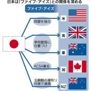 中国紙「日本がファイブアイズ(米英圏軍事同盟)参加なら中国人は絶対に許さない」