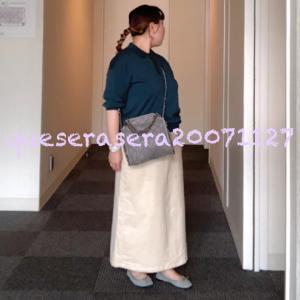 ☆ 《上下ジーユー》 ニットポロと新作のコーデュロイスカート ☆