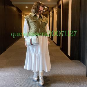 ☆《ザラ&GU》キルティングベスト初おろし!白ワンピにシルバーコーデ ☆
