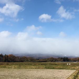 那須岳、雪雲に覆われる