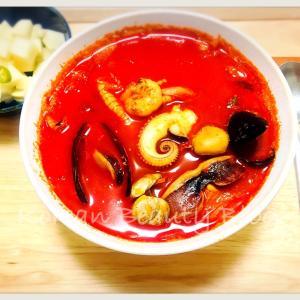 具が大きくてスープが香ばしい冷凍チャンポン