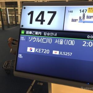 【韓国・ソウル(女一人旅)】深夜便ってどう?機内食は?初めての大韓航空をレビュー(2019年10月)