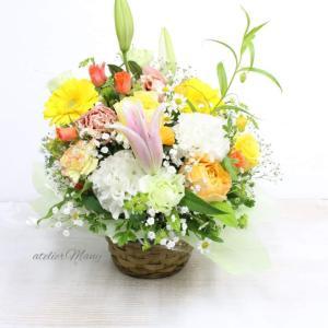 【退院お祝いのにお生花アレンジメント】