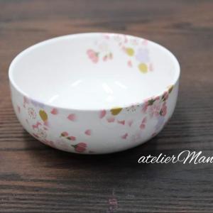 【桜模様の小鉢~ポーセラーツ】