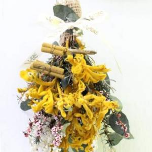 【アンナサッカ東京ミニ講習会オーストラリアプリザーブドフラワーユーカリの香りのスワッグ