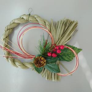 【生命保険会社での手作りイベント~しめ縄飾りとクリスマスリース】