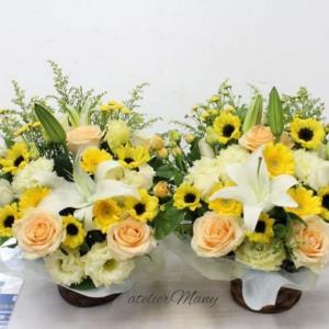 【お花が大好きなお母様へのお供えアレンジメント】