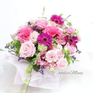 【お誕生日お祝いにオーダー頂きましたお生花アレンジメント】