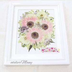 【結婚式でのサプライズプレゼントの花束を押し花に・・・】