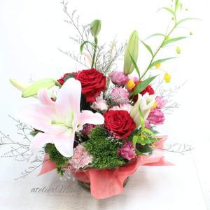 【従業員様のお誕生日に従業員様のお母様に贈るお生花アレンジメント】
