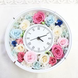 【プリザーブドフラワーで作る花時計】