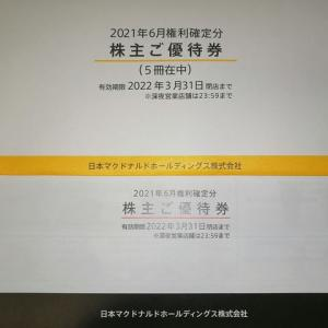 日本マクドナルドホールディングスより優待が届きました(2021年6月度優待品)