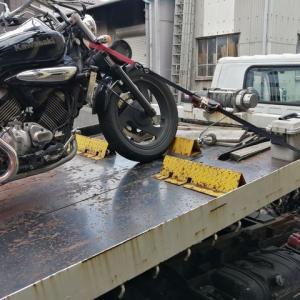 【悲報】愛車バイクがドナドナされる
