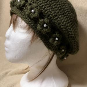 お花付き(花冠)ニット帽