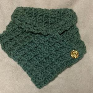 ワッフル編みのスヌード