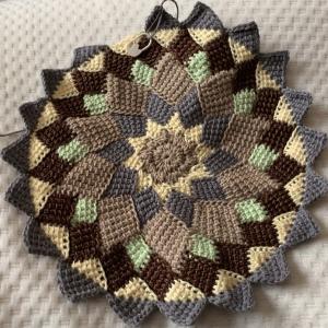 アフガン編みで