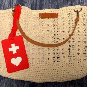 透かし編みのミニトート