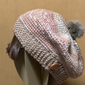 アフガン編みの帽子