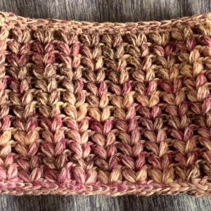 玉編みのスヌード