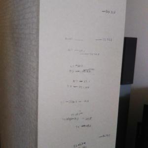 柱の傷とカレンダー
