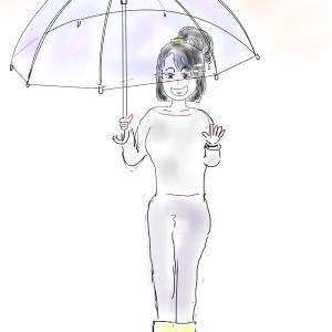 雨の日と火曜日の朝は。