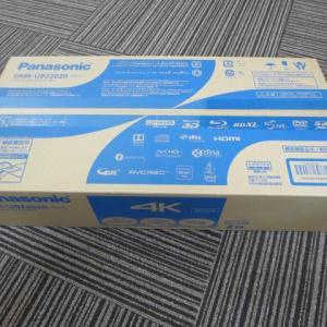 高価買取!新品家電 ブルーレイレコーダー 4K パナソニック