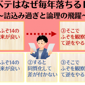 3文100字の納得度【戦略論:⑤長文の因→果】