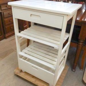 ♻️家具♻️タイルトップ天板キッチンワゴン♻️HAYAMI テレビボード