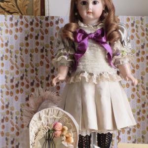 おやおや再び EJ DEPOSE ジュモー ヴァイオレットの目の人形★その⑤完成