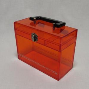 プラスチックの小ぶりな裁縫箱 道具箱 レトロなジャガーミシンのツールボックス